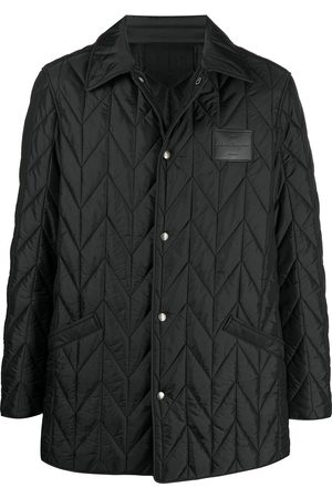 Salvatore Ferragamo Quilted buttoned logo patch jacket