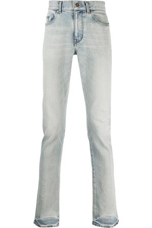 Saint Laurent Men Straight - Faded-effect straight jeans