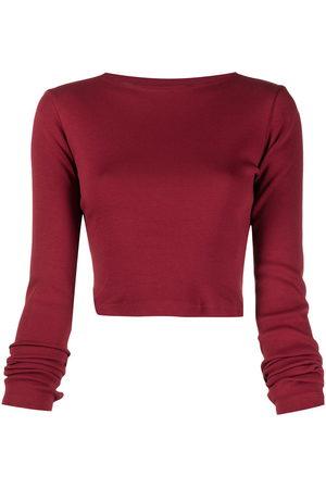 Styland Women Long Sleeve - Rear logo patch cropped T-shirt