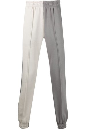 Styland Two-tone organic cotton track pants