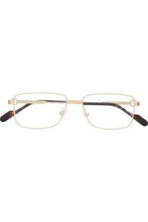 CARTIER EYEWEAR Men Sunglasses - C de Cartier rectangle-frame glasses
