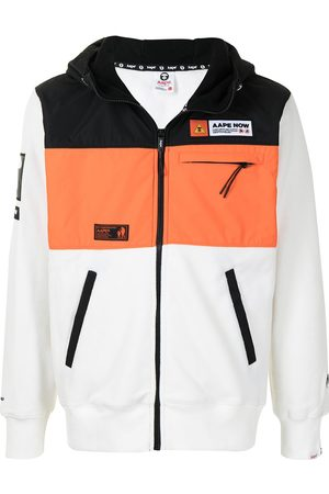 AAPE BY A BATHING APE Men Bomber Jackets - Colour-block panel jacket
