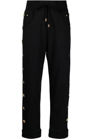 Balmain Logo button trim track pants