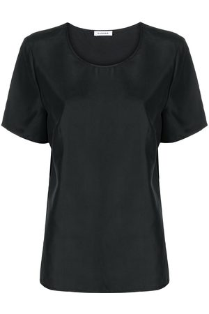 P.a.r.o.s.h. Women Short Sleeve - Round neck silk T-shirt