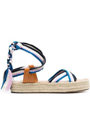 Isabel Marant Woven-strap espadrille sandals