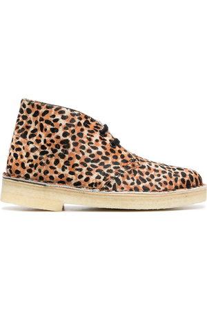 Clarks Leopard-print desert boots