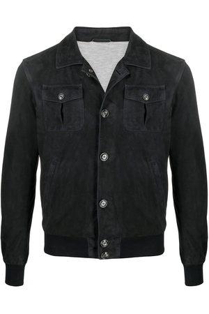 BARBA Leather shirt jacket