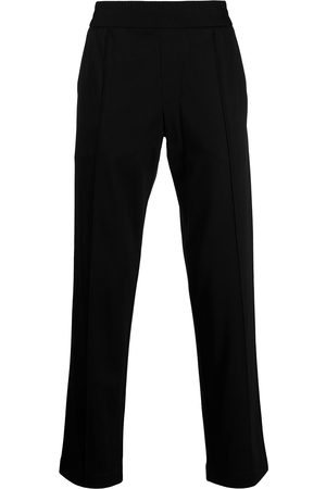 Emporio Armani Men Trousers - Pressed-crease elasticated-waist trousers