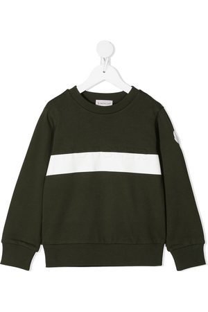 Moncler Boys Sweatshirts - Embossed logo cotton sweatshirt