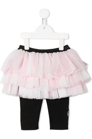 Balmain Baby Leggings - Tiered tulle skirt with leggings