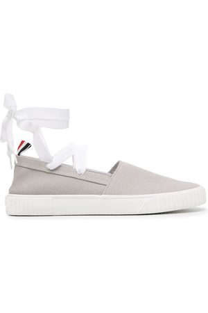 Thom Browne Women Casual Shoes - Removable tie espadrille sneakers
