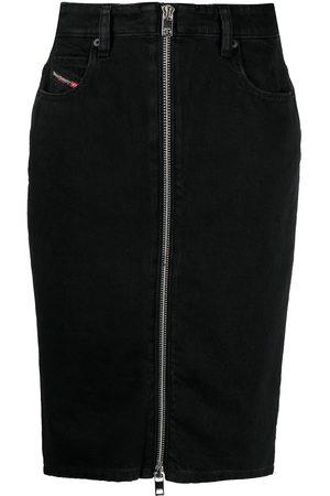 Diesel Women Pencil Skirts - Zipped denim pencil skirt