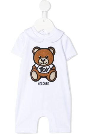 Moschino Teddy embroidery stretch-cotton romper