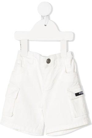 Balmain Shorts - Logo patch shorts