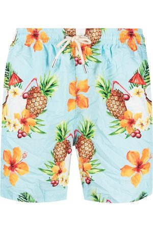 MC2 SAINT BARTH Men Swim Shorts - Graphic-print swim shorts