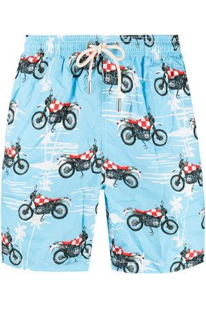 MC2 SAINT BARTH Men Swim Shorts - Biker print swim shorts