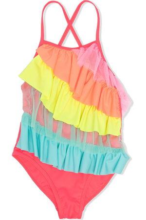 Billieblush Girls Swimsuits - Ruffled overlay swimsuit