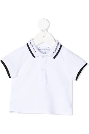 Emporio Armani Polo Shirts - Logo-print short-sleeved polo shirt