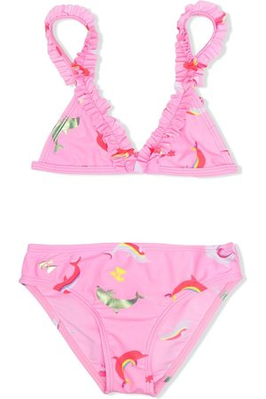 Billieblush Ruffle-trim bikini set