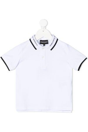 Emporio Armani Boys Polo Shirts - Contrast trim polo shirt