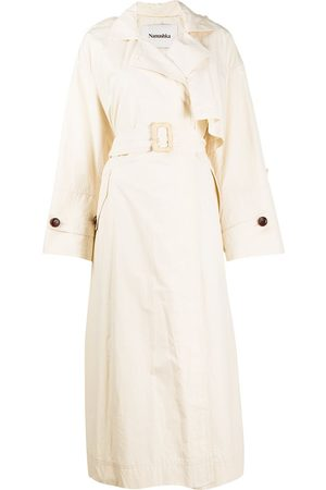 Nanushka Caylei belted trench coat
