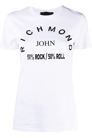 John Richmond Logo patch slogan T-shirt