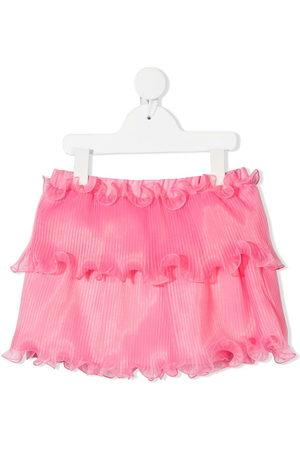 Alberta Ferretti Girls Rainwear - Pleated tiered mini skrit