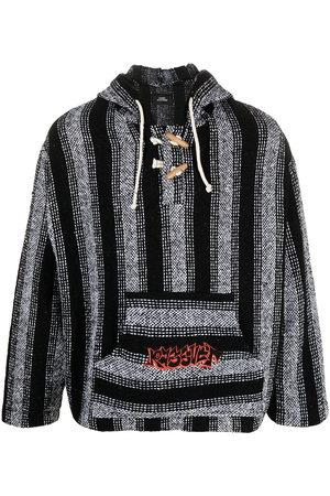 PACCBET Rassvet-print stripe-woven hoodie
