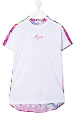 Msgm Two-tone floral T-shirt