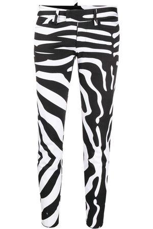 Dsquared2 Zebra-print cropped trousers