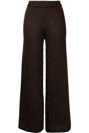 Staud Daisy glitter-effect trousers