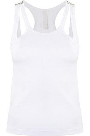 DION LEE Women Tank Tops - Teardrop ribbed tank top