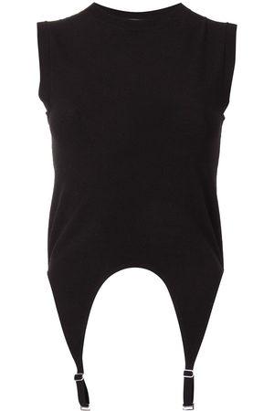 DION LEE Garter sleeveless knit top