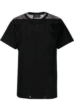 Philipp Plein Lace-panelled T-shirt