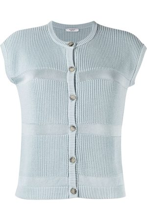 PESERICO SIGN Purl-knit short-sleeved knitted top