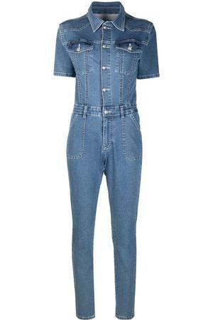 Philipp Plein Button-down denim jumpsuit