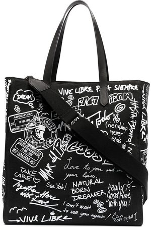 Golden Goose Graffiti-print canvas tote bag