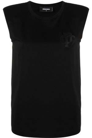 Dsquared2 Women Tank Tops - Logo-embroidered tank top