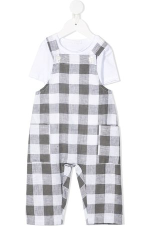 Il gufo Dungarees - Gingham check dungarees