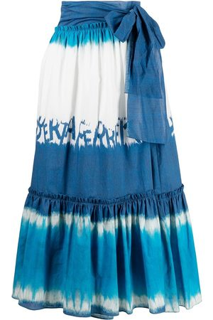Alberta Ferretti Tie-dye midi skirt