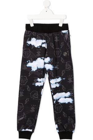Philipp Plein Cloud print track pants