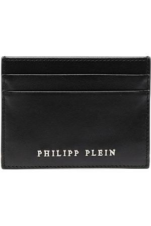 Philipp Plein Men Wallets - Logo-embellished calf leather cardholder