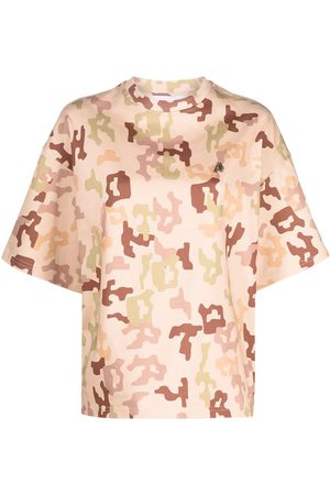 The Attico Camouflage-print cotton t-shirt