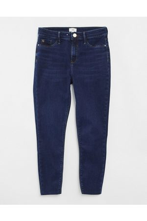 River Island Molly skinny jeans in dark auth