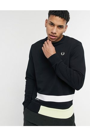 Fred Perry Printed panelled sweatshirt in