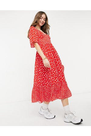 French Connection Fayola drape midi dress in