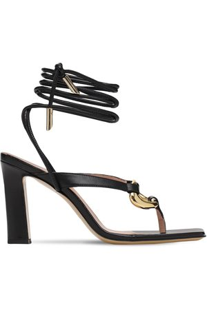 GIA 95mm Levante Bis Leather Thong Sandals