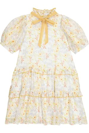 adidas Viola floral cotton and silk chiffon dress