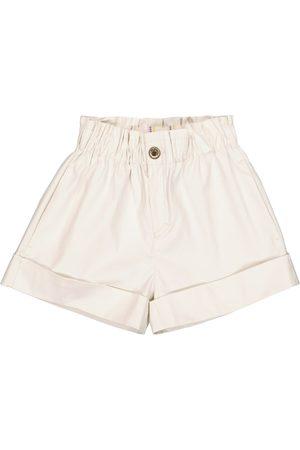 adidas Girls Denim Skirts - Dale stretch-denim paperbag shorts