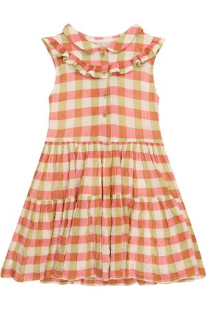 adidas Nelly checked stretch-cotton dress